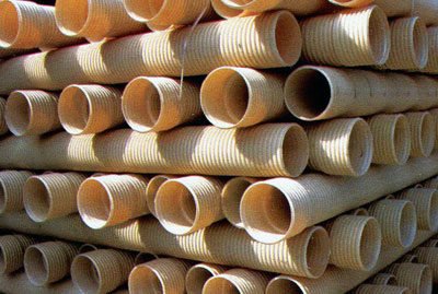 PVC-U Double Wall Corrugated Pipes for Undergrourd Soil,Waste and Drainage